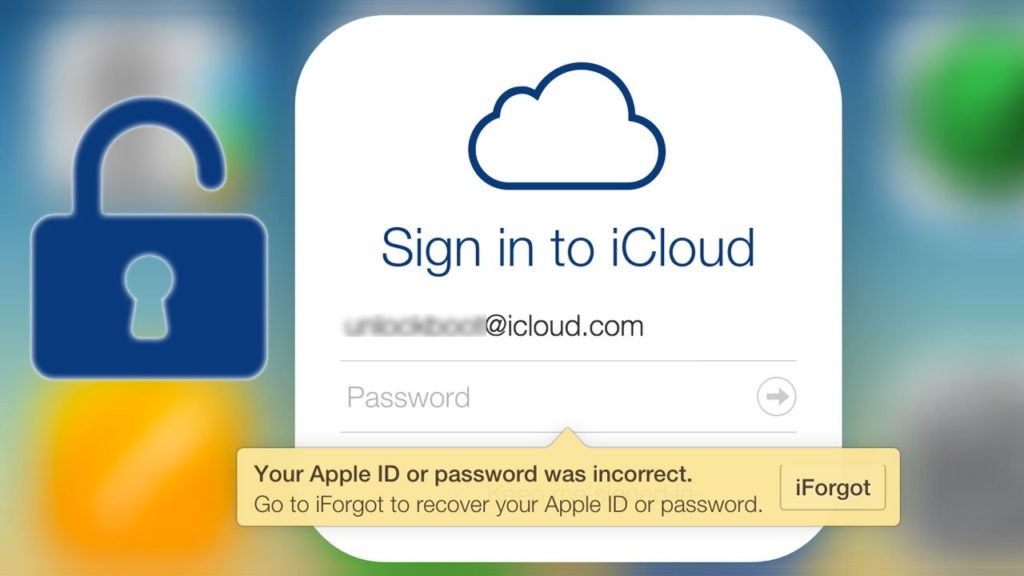 iCloud account sign-in
